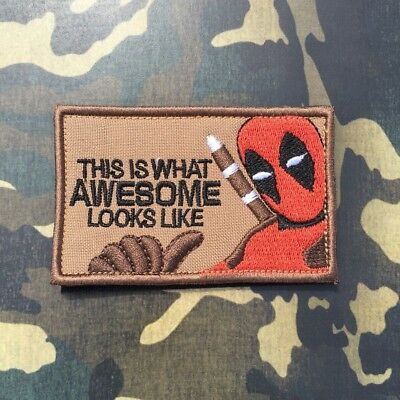 Stitch Army Patch Hook and Loop / Iron (Deadpool_2) Army uniform Jacket