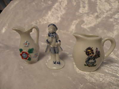 Occupied Japan Miniature Vase + 2 Other Miniatures Very Nice Old Collection