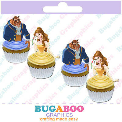 Beauty and the Beast Cupcake Toppers, Cakepop Toppers, Birthday Party Supplies