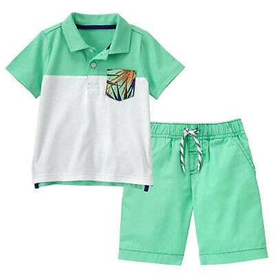 NWT Crazy 8 Boys Size 3T 4T Vroom Tee Shirt /& Plaid Pull-On Shorts 2-PC OUTFIT