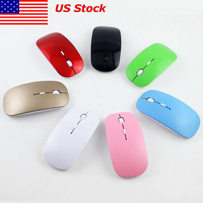 Wireless Ultra Thin Optical Scroll Mouse/Mice USB Receiver Laptop PC 2.4GHz US