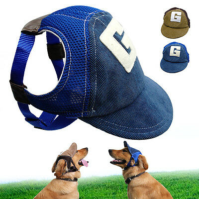 Breathable Mesh Dog Baseball Cap Pet Puppy Summer Sun Hats Outdoor Accessory S-L