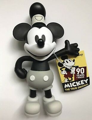 Disney Mickey MOUSE THE TRUE ORIGINAL STEAMBOAT WILLIE FIGURE 90 YEARS OF MAGIC