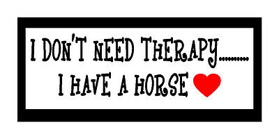 I Don't Need Therapy I Have A Horse Fun Horse Love Gift Magnet For Fridge or Car