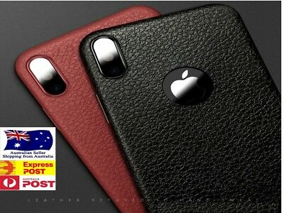 iPhone XS X 8 7 Plus 6s 6 11 Pro Leather Case Genuine Look Slim Cover Shockproof