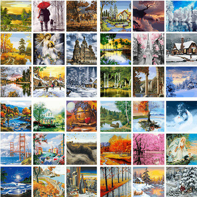 Scenery DIY Acrylic Paint By Numbers Oil Painting On Canvas Home Art Wall Decor