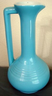 Vintage Frankoma Morning Glory Blue Vase V-10 Joniece Frank Number 50 of 3000