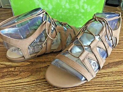 74b1f832f314 Sam Edelman Boyden Strappy Sandals Womens 10 M Beige Tan Free Ship