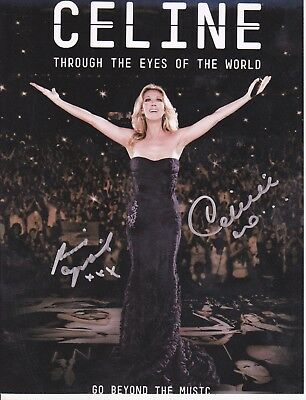 Celine Dion And Rene Angelil Signed 8X10 Autograph Photo Reprint + Free Magazine