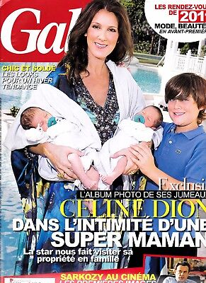 """Celine Dion """"rare"""" Gala Magazine 10 Pages With All The Kids And Rene """"mint"""""""