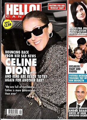 """Celine Dion """"rare"""" Hello Canada Magazine 4 Pages With Rene"""