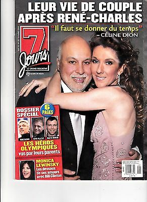 Celine Dion  Rare 7 Jours Magazine Volume 13 March 2003 With Rene + Free Gift