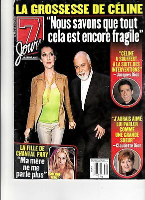 Celine Dion  Rare 7 Jours Magazine With Rene Volume 11 June 2000 + Free Gift
