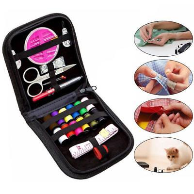 Sewing Kit Portable Travel Small Home Box Needle Thread Tape Scissor Set BS