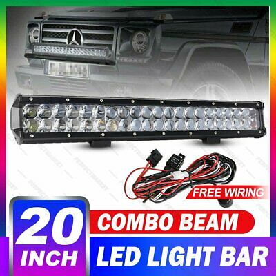 20 inch CREE LED Work Light Bar 7D Lens Flood Spot Offroad Driving SUV 4WD 23""