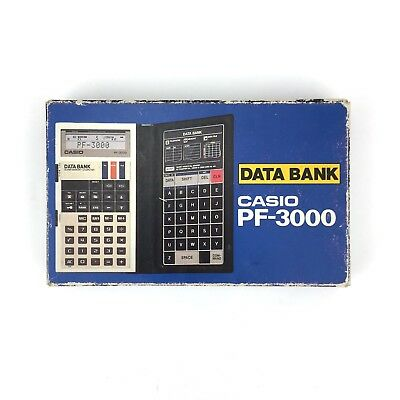Casio Pf-3000 Data Bank. Vintage Calculator Telephone Memory Data File Japan Box