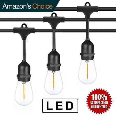 48FT 15 LED IP65 Commercial Grade Patio Globe String Lights Bulbs Outdoor US TN