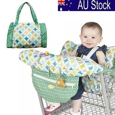 Baby Shopping Cart Cushion Kids Trolley Seat Chair Cover Travel Bag Protector AU