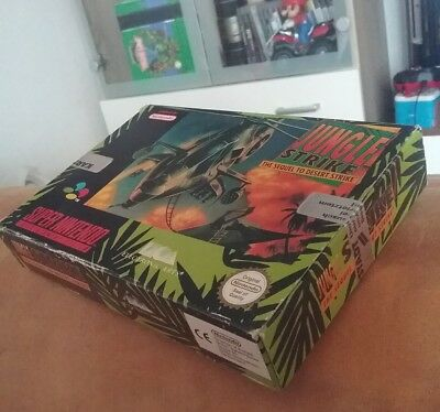 Super Nintendo, Jungle Strike, SNES, nur die Originalverpackung