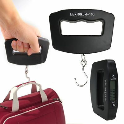 LCD Digital Electronic Hook Scale Hanging Luggage Weight  Watchers 50kg/10g