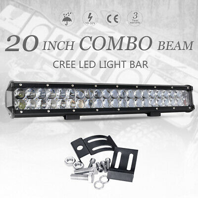 20 inch CREE 7D Fish Eye Lens SPOT FLOOD LED Light Bar Offroad Driving SUV 4WD