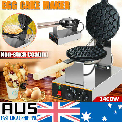Commercial Nonstick Electric Egg Puff Bubble Cake Waffle Egg Maker Pan Machine
