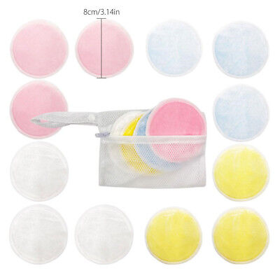 16Pcs Reusable Makeup Remover Double Layer Wipes Facial Cleanser Pads Washable.