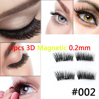 Pro 0.2mm Natural Thick Eye Lashes Extension Handmade 4 lashes/1 pair TOP#01