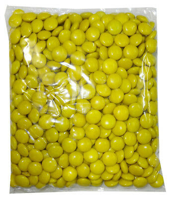 Choc Drops - Yellow Single Colour Smarties clones (500g Bag)