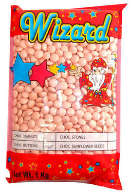 Wizard Choc Buttons - Pastel Pink (1kg bag)