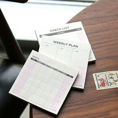 Paper Diary Notebook Planner Agenda Memo Weekly Monthly Work Notepad Plan