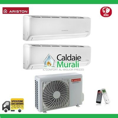 Conditionneur D'air Ariston Convertisseur Dual Alys Plus R-32 9000+9000 Btu Avec