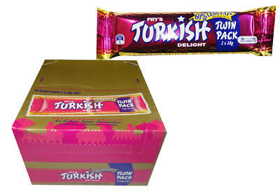Fry's Turkish Delight -  Twin Pack (28pc box) (2 x 38g bars)