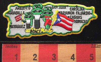 Travel Patch Coqui Tree Frog PUERTO RICO San Juan & Cities Commonwealth USA C658