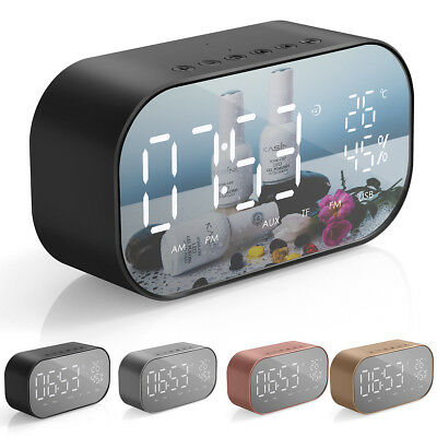Wireless Bluetooth Speaker Digital LCD Alarm Clock TF/FM Radio MP3 Music Player