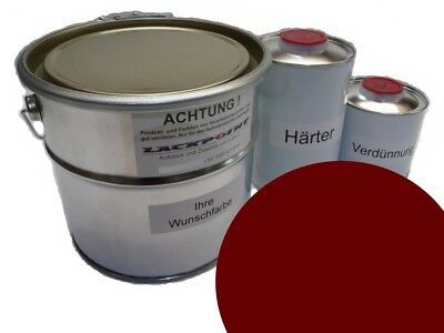 3,5 Liter Set 2K Car Paint VW LH3D Marsala Red No Clear Coat New Tuning Trend