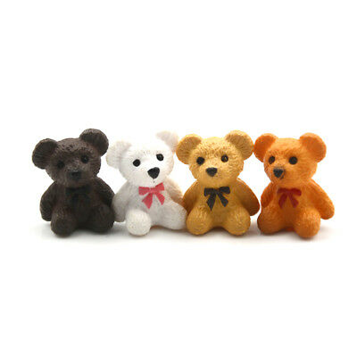 4pcs/lot Bear Figures Mini Fairy Garden Animals Statue Miniature GT