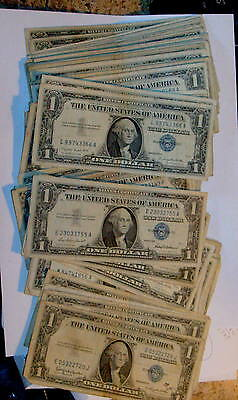 100 Silver 1935 & 1957 CERTIFICATE $1 Dollar Bill Currency includes 2 STAR NOTES