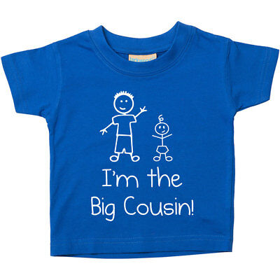 I'm The Big Cousin Blue Tshirt Baby Toddler Kids Available in Sizes from 0-6 Mon