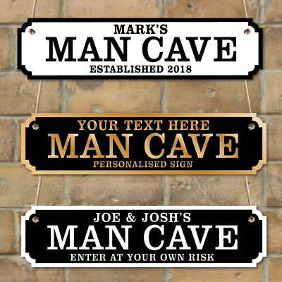 Personalised Man Cave plaque, Vintage Custom Road Sign, Husband Gift, Shed Sign