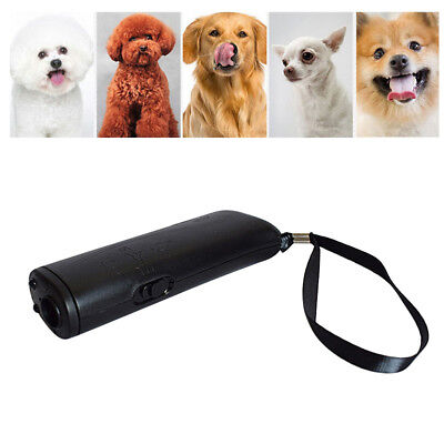Dog Train Repeller Control Trainer LED Ultrasonic Anti Bark Device Stop Barking