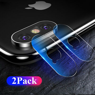 2Pack Tempered Glass Rear Camera Lens Protector Film for iPhone Xs Max/XR/X 7 8P