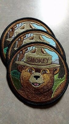 Rare Smokey the Bear design 3 or 4 inch options. one patch firefighter patch