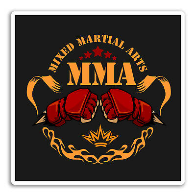 2 x 10cm MMA Mixed Martial Arts Vinyl Sticker iPad Laptop Boxing Fighting #5174
