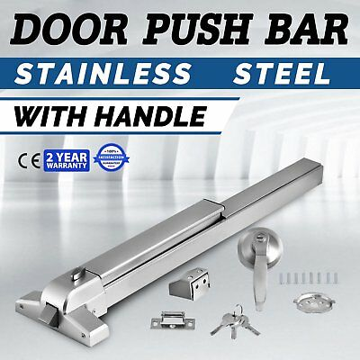 65cm Door Push Bar Panic Exit Device Lock With Handle Emergency Hardware Fast TO