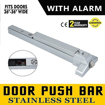 Door Push Bar 65cm Panic Exit Device with Alarm Commercial Emergency Exit Bar TO