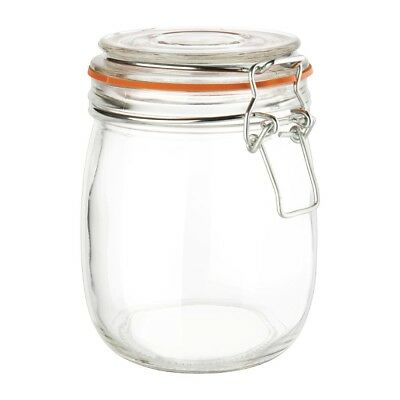 Vogue Clip Top Glass Preserve Jar 750ml | Food Storage Restaurant Container