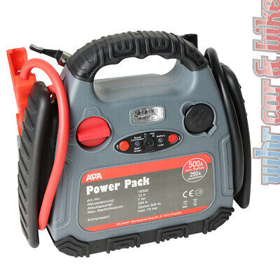 APA 12V Power Pack 500A mobile Starthilfe Stromquelle + 18 bar Kompressor