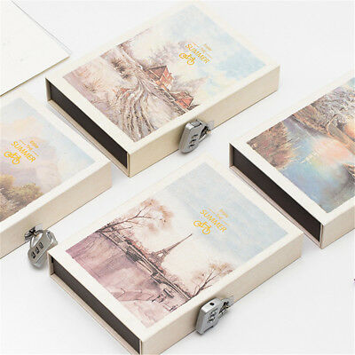 Journal Diary with Lock Hard Cover Locking Notebook Vintage Writing Book Planner
