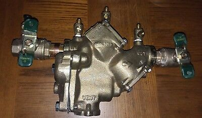 """WATTS 3/4"""" LF 909 QT RPZ Reduced Pressure Zone Valve 175 PSI pre-owned"""